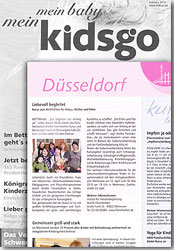 Presseartikel in der KIDSGO - April 2010
